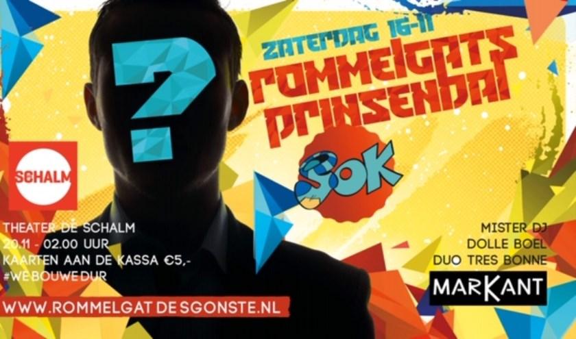 De poster van het Rommelgats Prinsenbal.