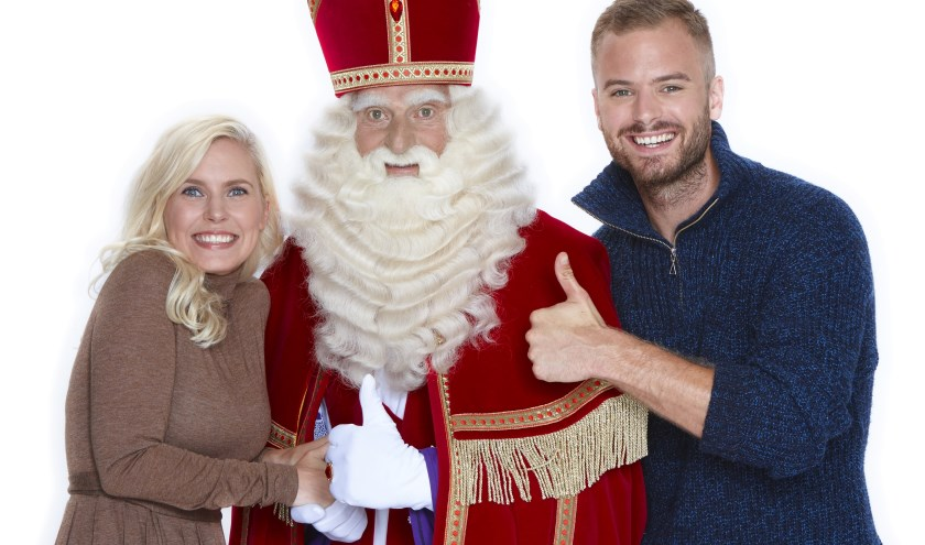 Jim en Bettina met Sinterklaas.