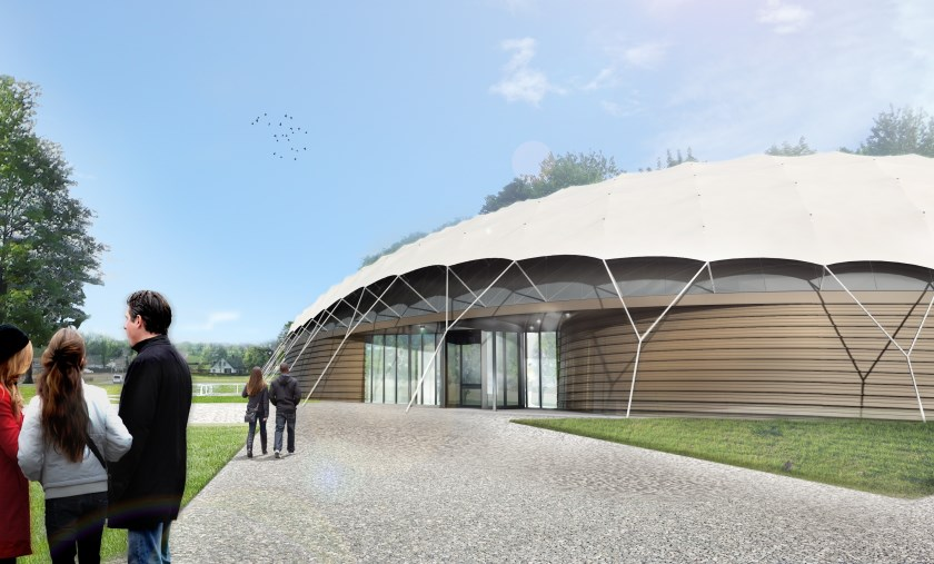 Artist impression van het vernieuwde Vrijheidsmuseum in Groesbeek.