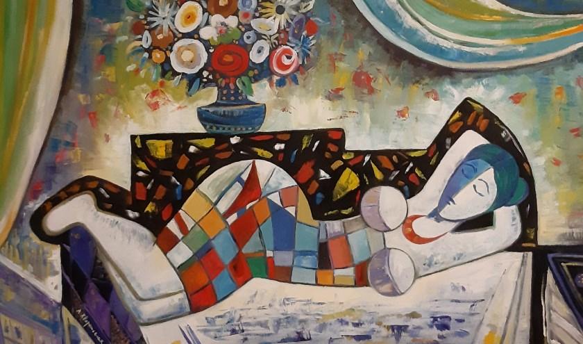 Daarnaast zijn werken te zien van Alexey Kvaratskheliya, die een aantal jaren geleden een solo-expositie had in galerie Van Cappellen.