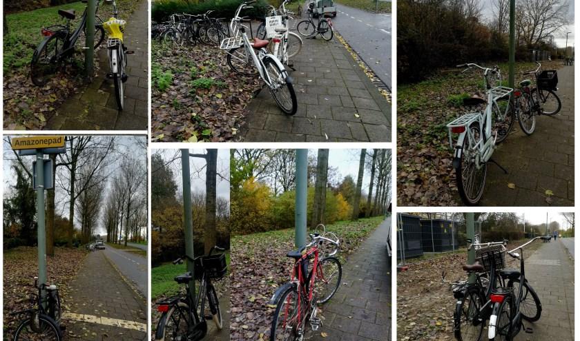 Lantaarnpalen en fietsen