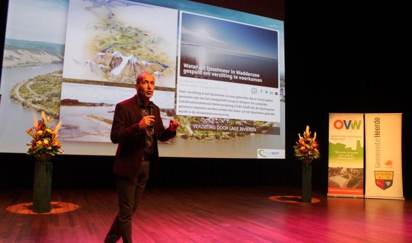 Reinier van de Berg leverde een bijdrage aan het Ondernemersevent in De Heerd.