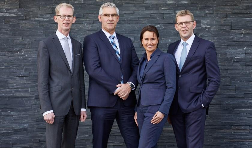 RU Uitvaartleiders, v.l.n.r. André Zuidema, Goris van der Linden, Wendy Phielix en Wim Zuidema.