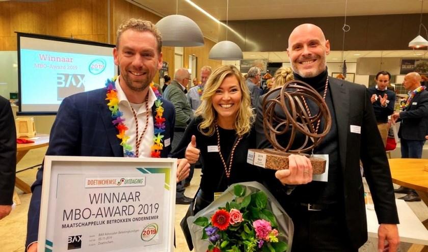 De nieuwe MBO-Award winnaar van 2019, Bax Advocaten Belastingkundigen te Doetinchem.