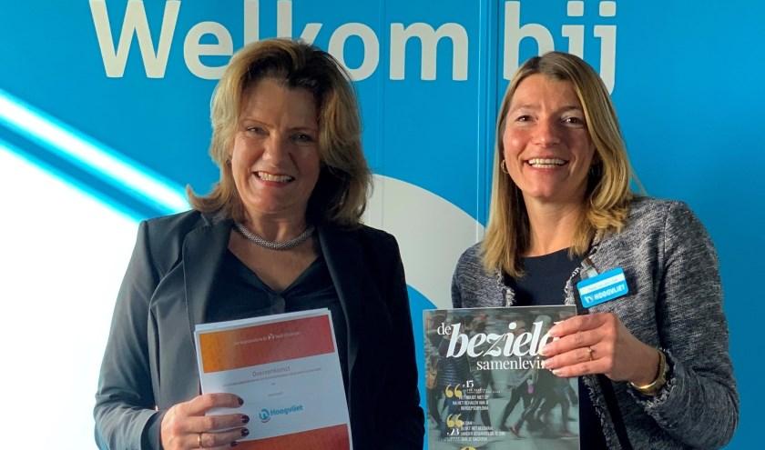 Op donderdag 31 oktober ondertekenden Petra van der Vlist en Tina Boes een samenwerkingsovereenkomst.