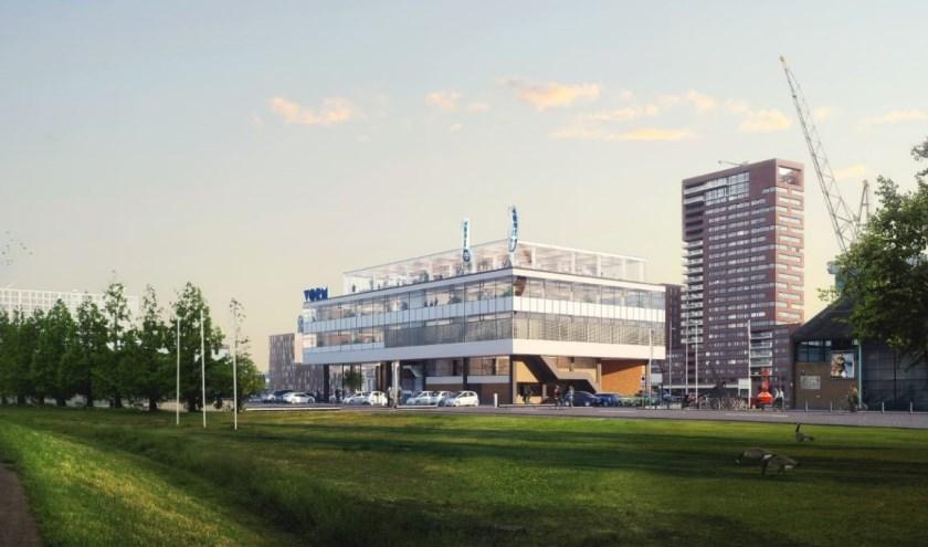 Artist impression van De Nieuwe Maaskant na de renovatie. (Foto: Privé)