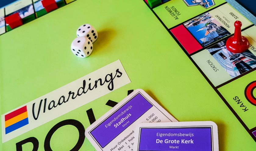 Vlaardings Monopoly met kaartjes