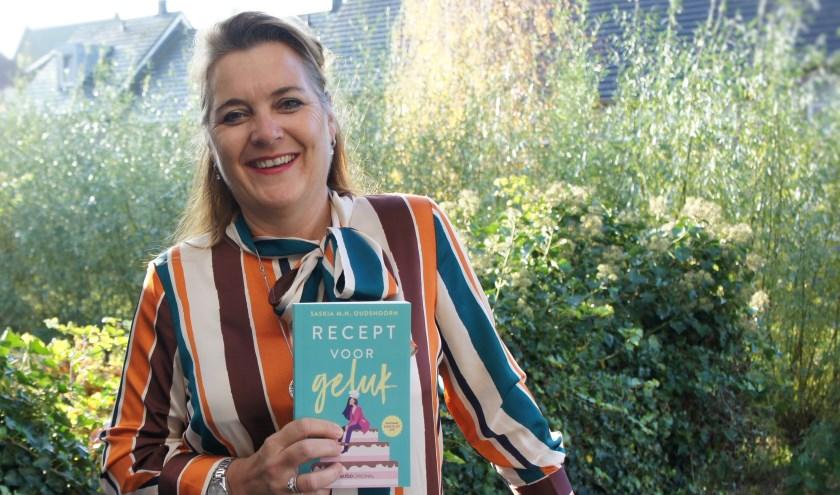 Het winnende boek, waarmee Saskia weer een stukje dichter bij haar eigen droom komt. (Foto: Thea van der Raaf)