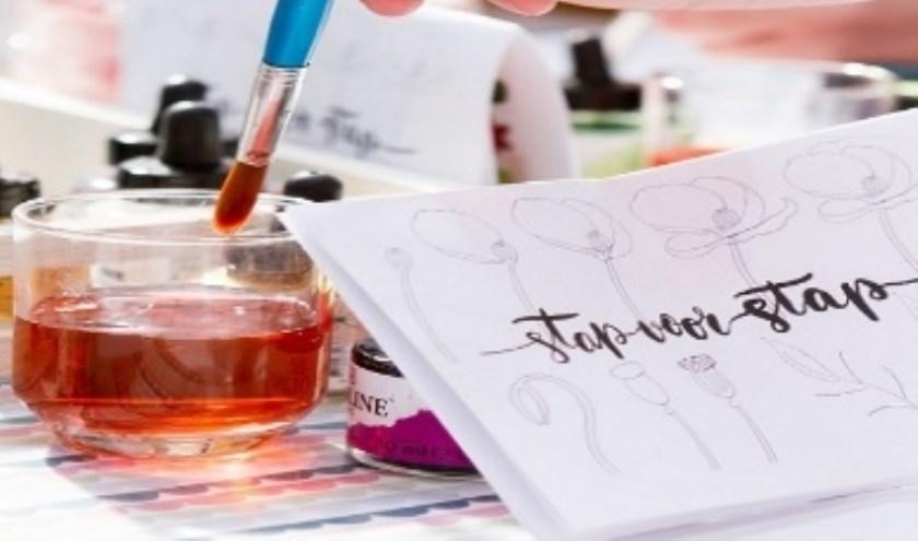 Tekenen en schilderen bij de VU. (Foto: Privé)