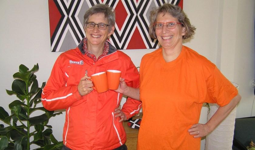 Franca Drieman (l) en Sterre Delemarre spreken klare taal: geweld tegen vrouwen is gewoon 'Not done'.