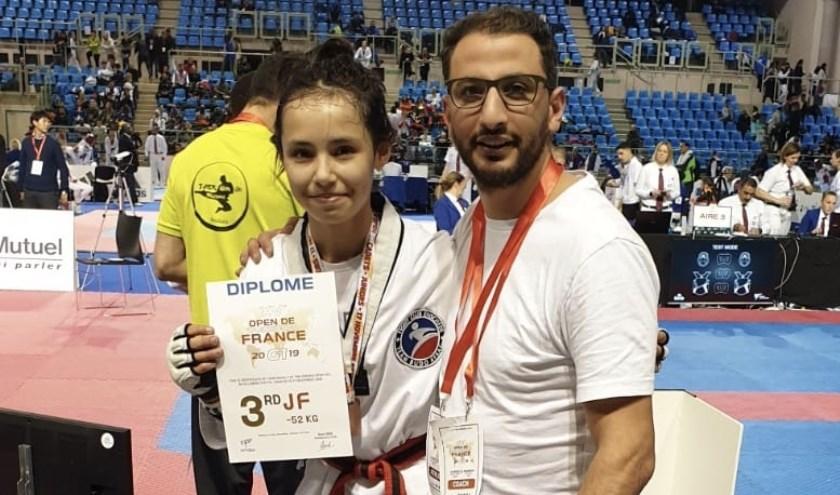 Annika de Munnik en haar coach Rafik Zohri. (Eigen foto)