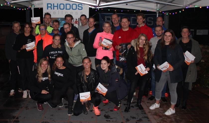 Winnaars van het Rhodoss Wellness Open Rating toernooi. (Foto: Cor Post)