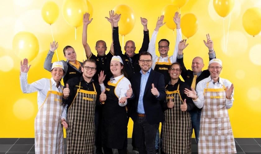 Filiaalmanager Marko Zijl en zijn team tijdens de 7 Zekerheden training van de Jumbo Academy op het hoofdkantoor van Jumbo Supermarkten in Veghel.