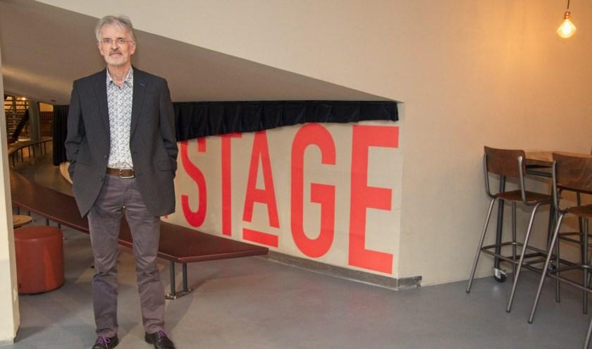 Michel Havenith in het Stadstheater waar hij in januari met het Ebony Ensemble optreedt. Foto: Gerard van Warmerdam