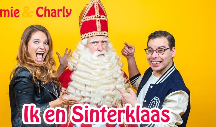 Jamie, Charly en Sinterklaas.