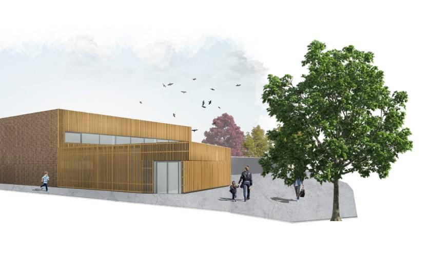 De sportzaal aan de Essenlaan wordt uitgebreid met twee kleed- en doucheruimten en het totale sportgebouw zal worden verduurzaamd.