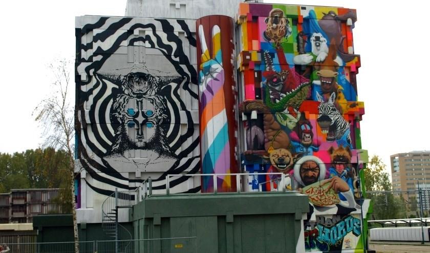 Street Art aan het Kinderen van Versteegplein