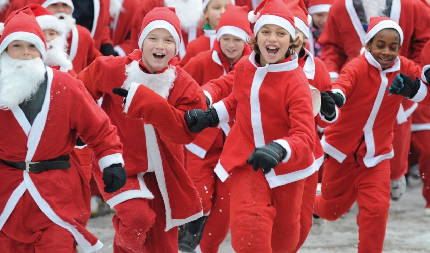 Vooral voor kinderen is de Santa Run een geweldige activiteit, maar volwassenen zullen er net zo goed van genieten.