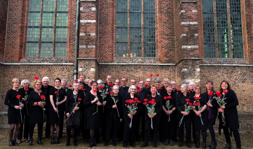 Toonkunstkoor Schiedam voor de  Dorpskerk.