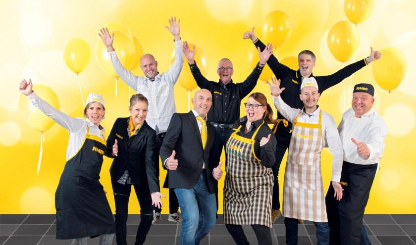 Filiaalmanager Erik de Bruine en zijn team tijdens de 7 Zekerheden training van de Jumbo Academy op het hoofdkantoor van Jumbo Supermarkten in Veghel???????
