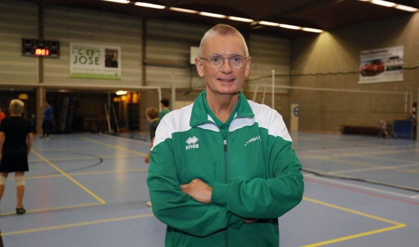Hans de Groot, voorzitter van een actieve en gezonde volleybalvereniging.