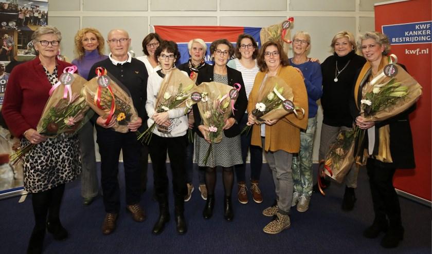 Collectanten van KWF Kankerbestrijding in Valkenswaard werden in het zonnetje gezet. Foto via KWF: Jurgen van Hoof.