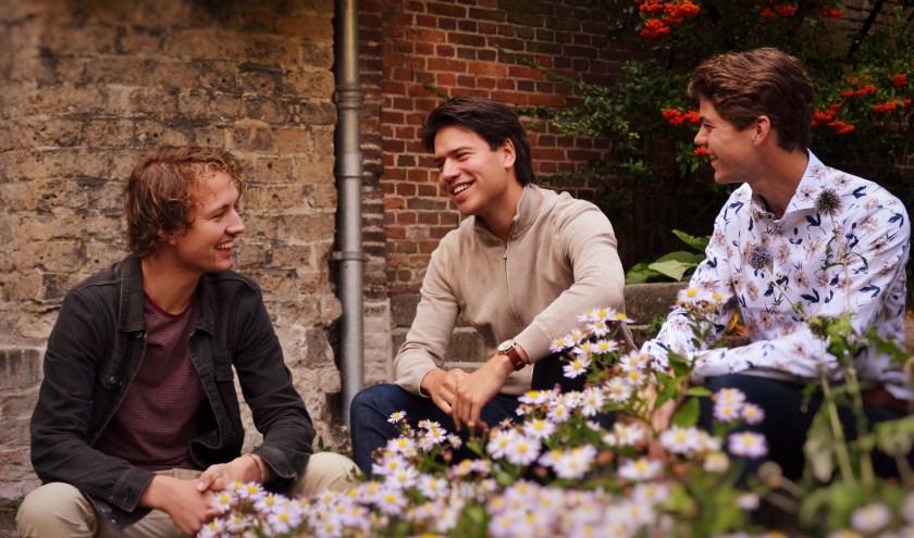 Vrienden Cas, Tom en Bram treden vrijdag op bij Winterdijk30b.