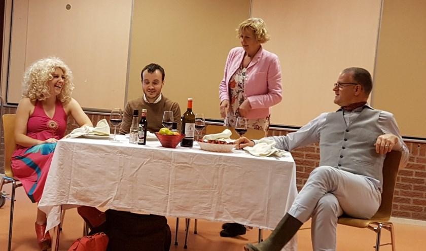 Op de foto van links naar rechts Kim, Roel, Anja en Wouter.