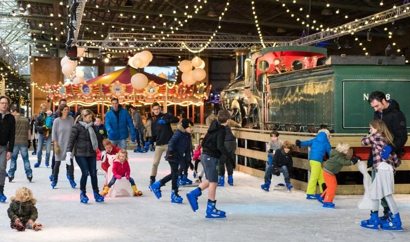 Het Spoorwegmuseum krijgt in de kerstvakantie een winterse metamorfose.