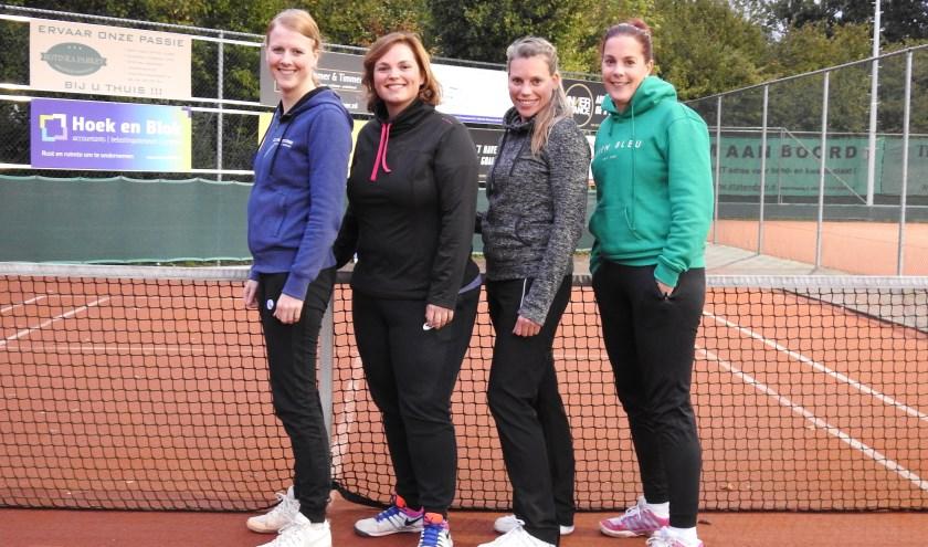 Het team bestaat uit: Merel van Krieken, Roxanne Saarberg, Astrid Davidse en Esther Tromp. (Foto: Privé)