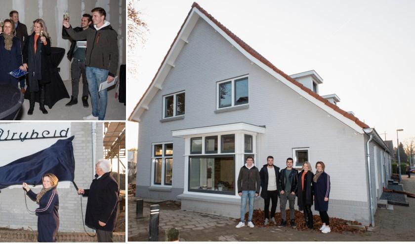 In het oude dorpshuis 'de Vrijheid' zijn nu vier woningen opgeleverd.