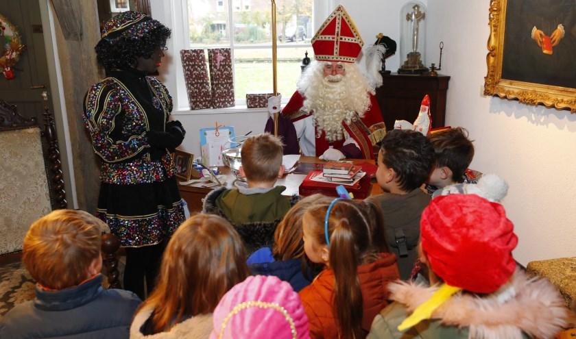 Sinterklaas verblijft in Museum 't Slot en noemt dat zijn thuis. FOTO: Bert Jansen.
