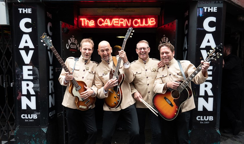 The Beatles Tribute Band One After 909 hier voor de illustere Cavern Club in Liverpool.