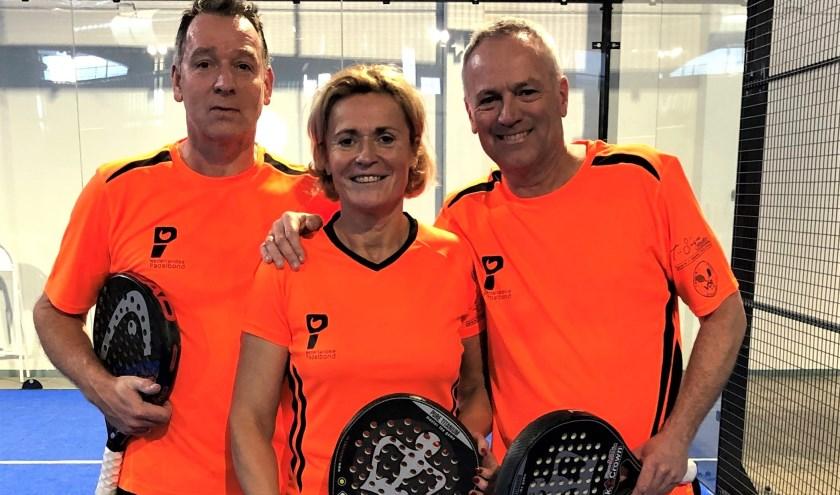 EK-internationals Fred van Ruissen, Ina van Lavieren en Jack Engelaar.