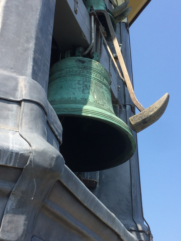 Detail klok met hamer van het carillon in Veere Foto: D. van der Vlies © DPG Media