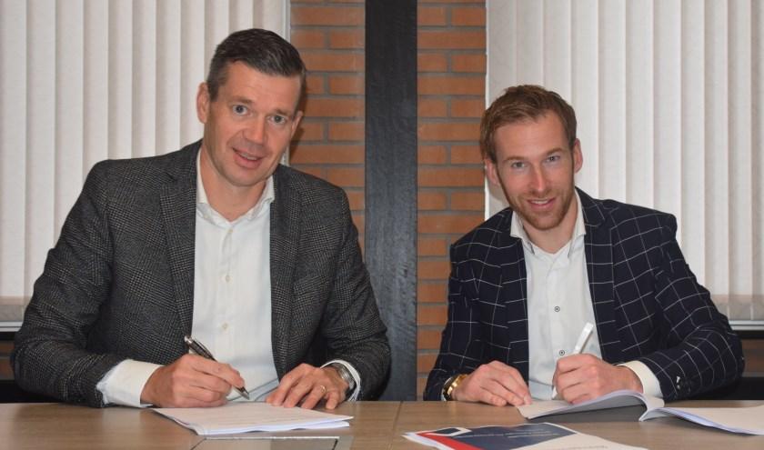 Directeur-bestuurder John Olde Olthof van Reggewoon en directeur Niek Nijenhuis van Novito. (Foto: Reggewoon)