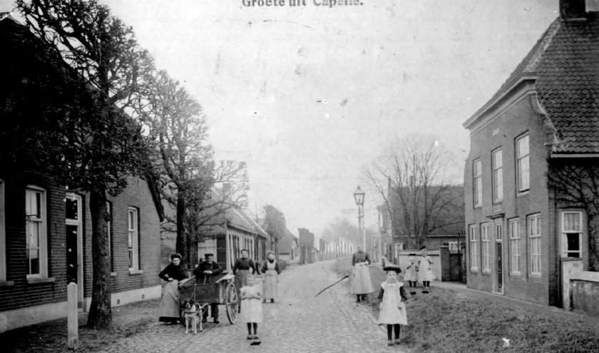De oude Langstraatweg door Capelle rond 1910. Foto: Collectie SALHA