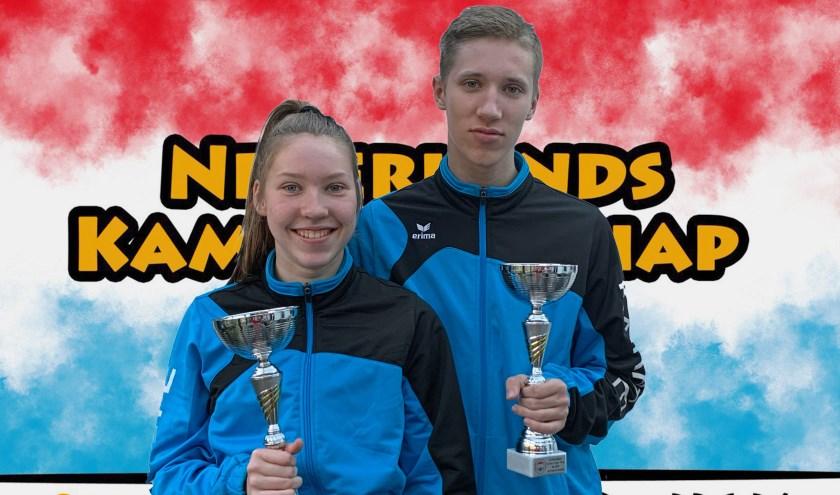 Nederlands kampioen karate Julian en Nessa Nobbe