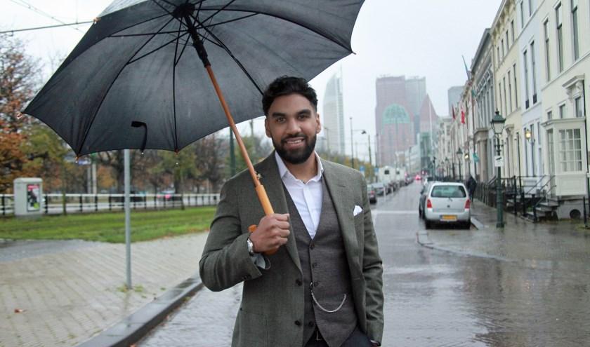 Jason vindt Den Haag een actiestad waar je naar toe komt voor grote veranderingen (Foto: Peter van Zetten)