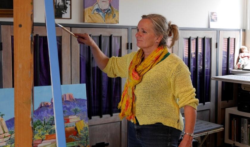 Lidy Meier aan het werk