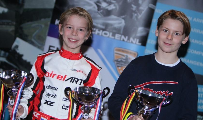 Morritz en Floris Nijhuis kijken tevreden terug op het afgelopen jaar.  (Foto: Bas Kaligis/RaceXpress.nl)
