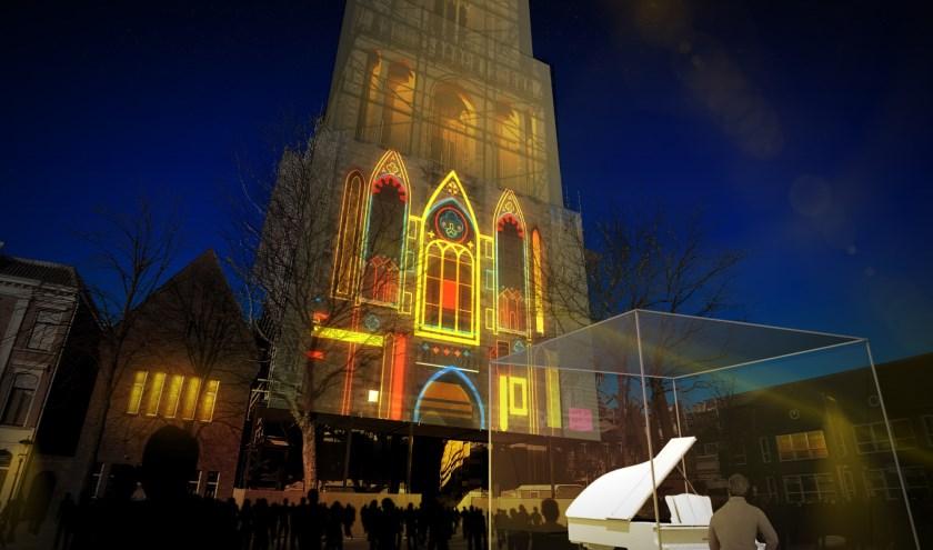 Nog een keer is het klank- en lichtspel op de Dom te zien.