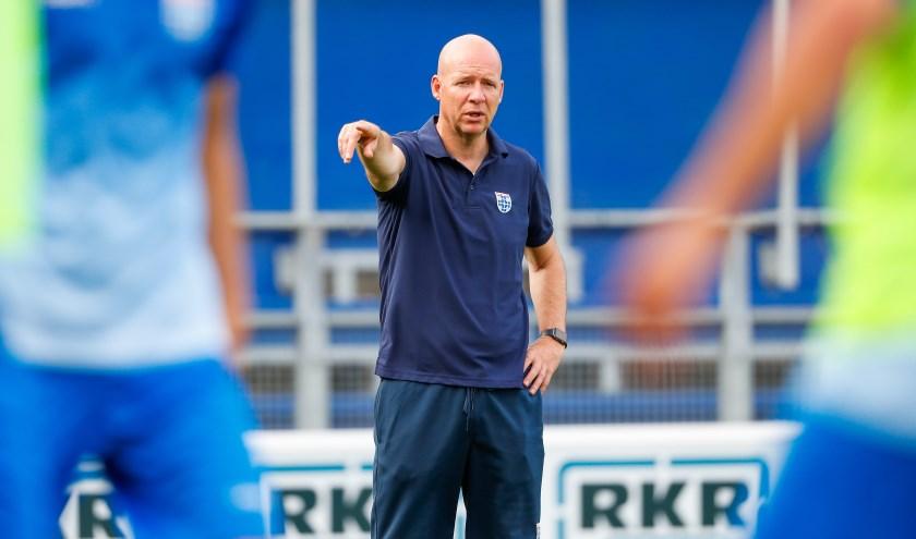 Henry van der Vegt is bezig te ontdekken wat voor type trainer hij is.