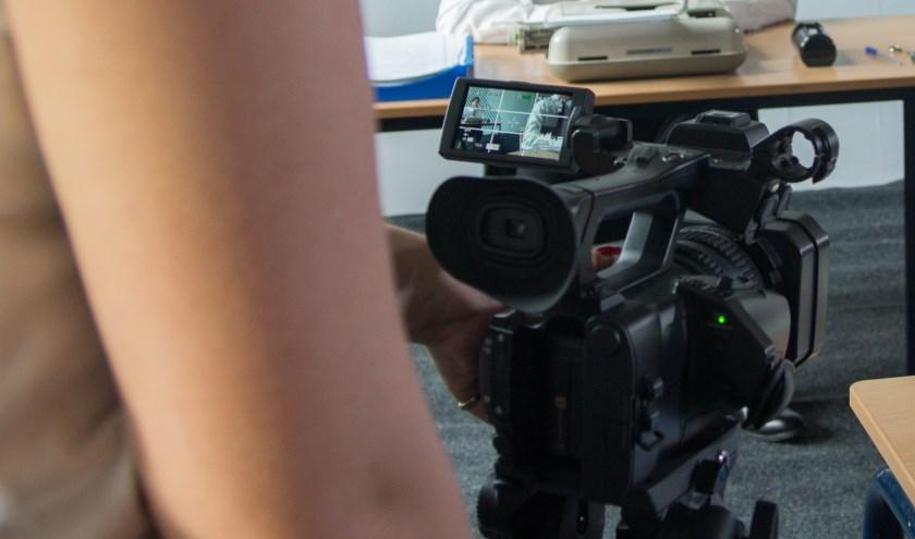 Opnames op de filmset
