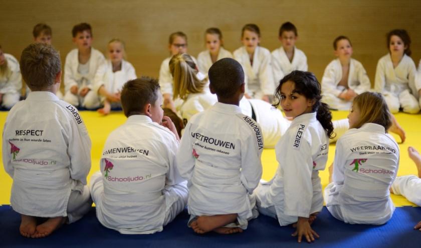 Leerlingen tijdens een Schooljudo les.