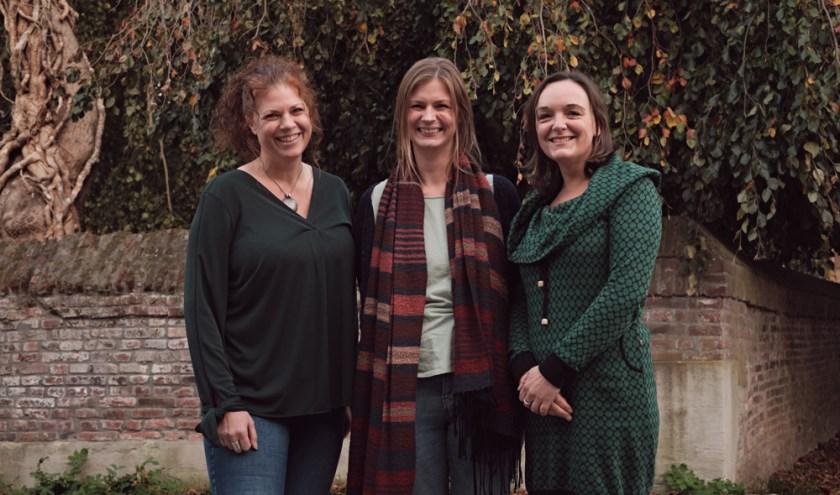 Het LSM-team: Inia, Marianne, Dorien.