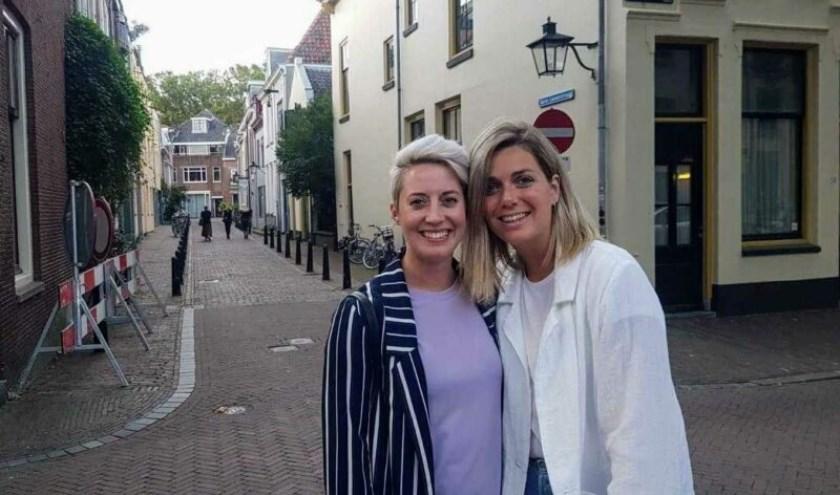 Merel links, Marleen rechts. Foto: privé bezit.