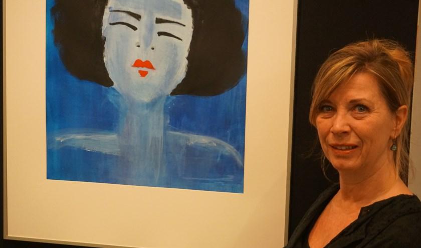Ellen Slegt volgde in het schilderen haar eigen ontwikkeling en techniek.