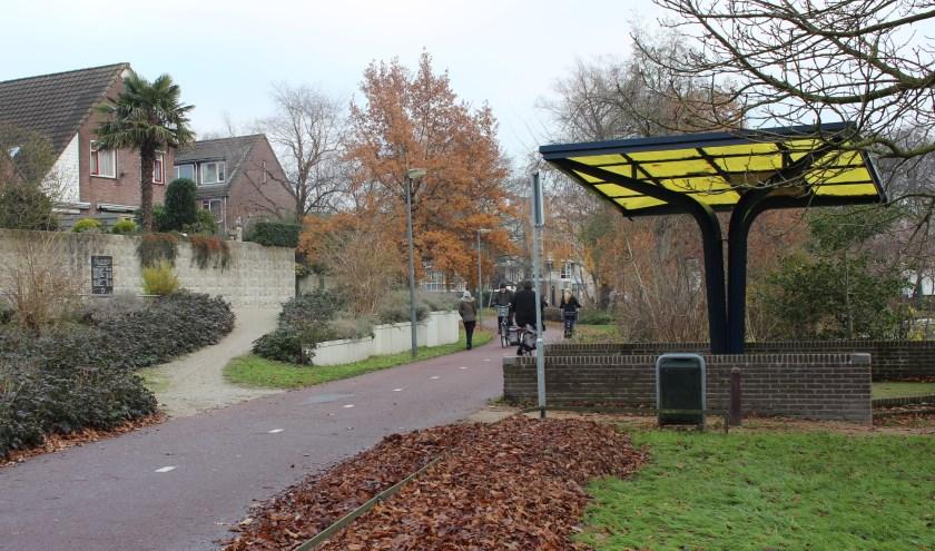 In deze omgeving van de Duivenweide krijgt de Anne Frankboom straks een plek.