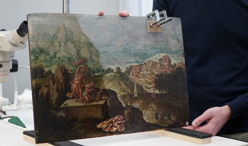 Het schilderij 'Het offer van Abraham' van Lucas Gassel. Foto: Museum Helmond.